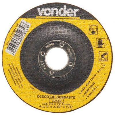 Disco Desbaste 115x5,0x22,23 Vonder