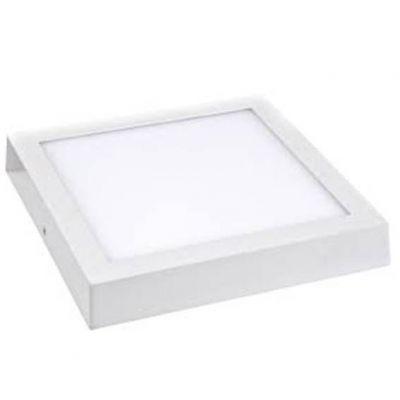Luminaria de Sobrepor Quadrada Branca Slim Led 12w 6500k 175x175