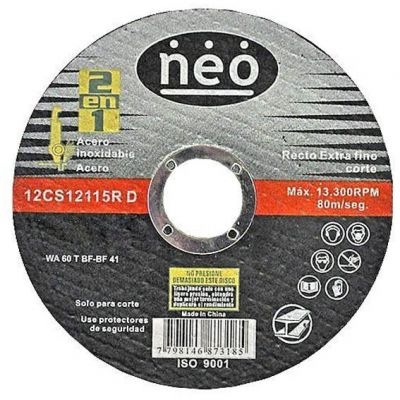 Disco Corte Aço/inox 115x2,5x22,2 Imp