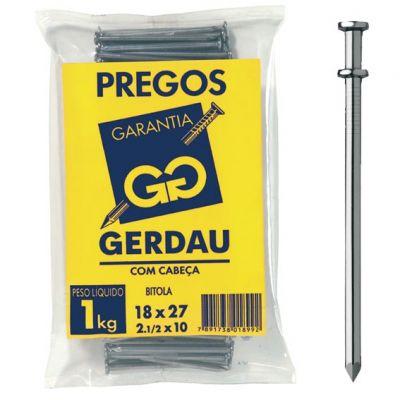 Prego 18x30 Cabeça Dupla Gerdau